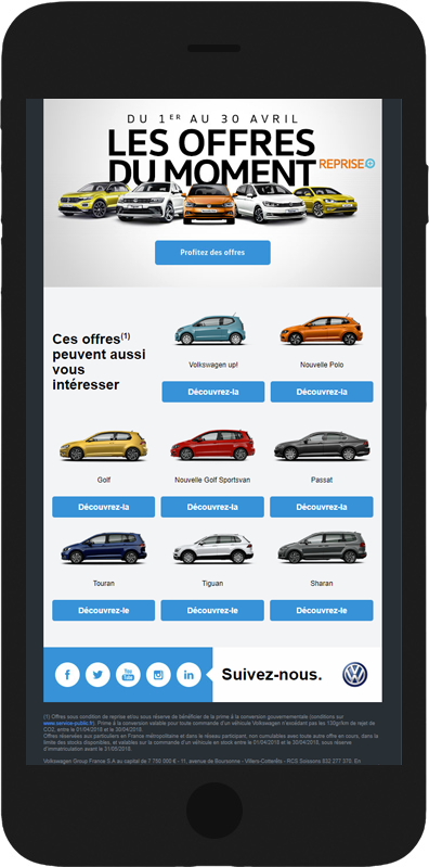 email trafic prospect volkswagen