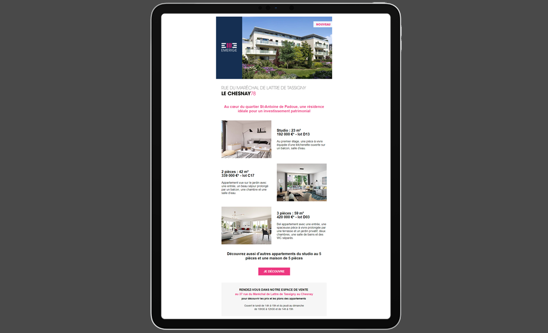 templates email emerige programme immobilier
