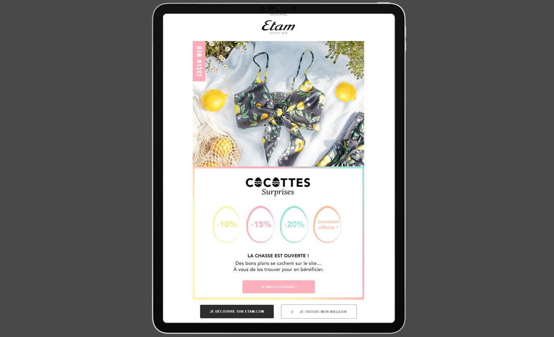 templates email etam surprise livraison offerte