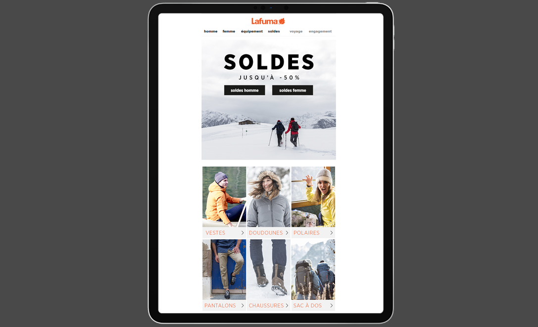 templates email lafuma soldes outdoor