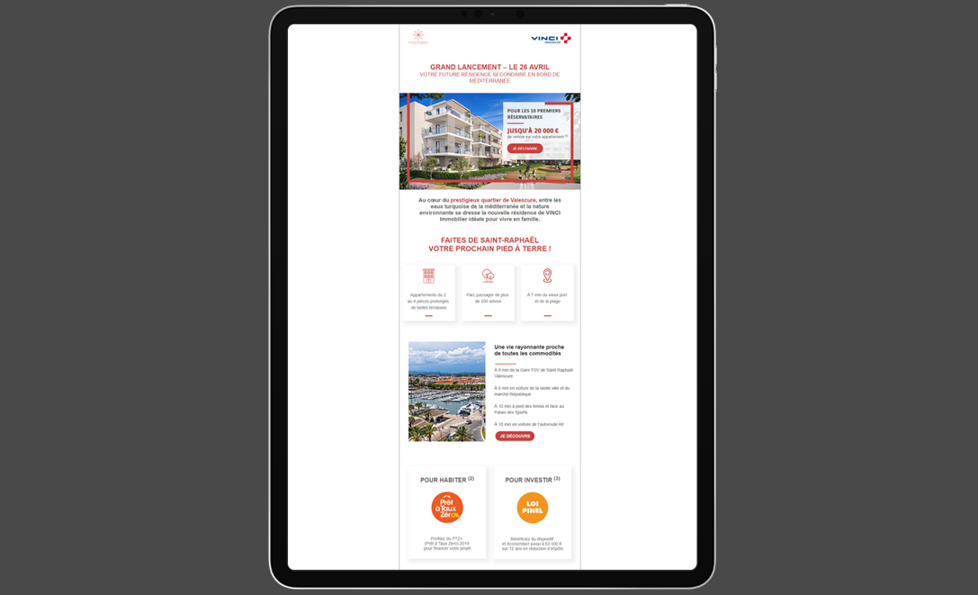 templates email vinci programme immobilier